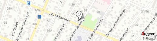 Мандарин на карте Астрахани
