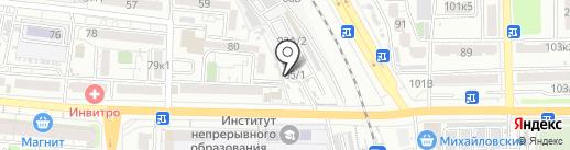 Автобан на карте Астрахани