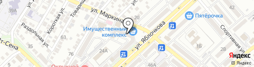 Детский на карте Астрахани