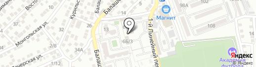 ЭКОГРАД на карте Астрахани