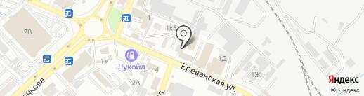 Профзащита на карте Астрахани