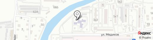 Малышок на карте Астрахани