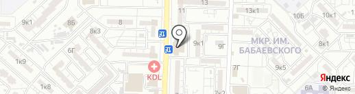 Магазин товаров для школы и офиса на карте Астрахани