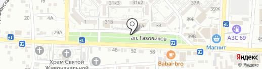 Пивной кРай на карте Астрахани