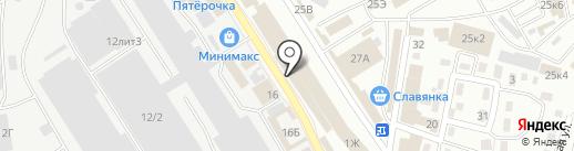Шукур на карте Астрахани