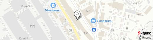 Магазин автозапчастей для ГАЗ на карте Астрахани