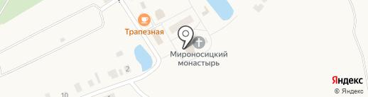 Ежово-Мироносицкий женский монастырь на карте Ежово