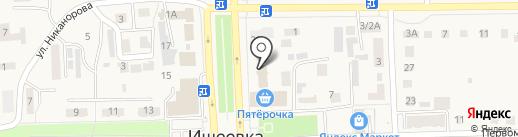 Ульяновское РАЙПО на карте Ишеевки
