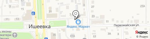 Поволжский банк Сбербанка России на карте Ишеевки