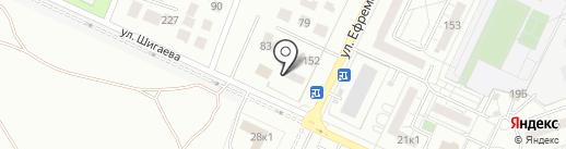 Медведефф на карте Ульяновска