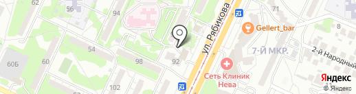 Чайка на карте Ульяновска