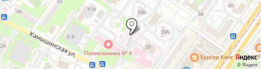 Ворота 73 на карте Ульяновска
