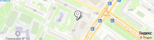 Магазин постельного белья на карте Ульяновска
