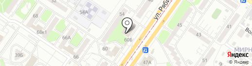 Банкомат, Газпромбанк на карте Ульяновска