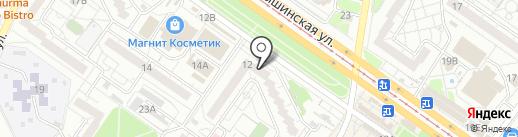 Золотые ножницы на карте Ульяновска