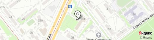 Центральная клиническая медико-санитарная часть на карте Ульяновска