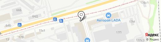 Частная служба аварийных комиссаров на карте Ульяновска