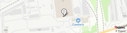 СИМПЛ на карте Ульяновска