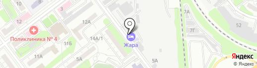 Веселый лось на карте Ульяновска