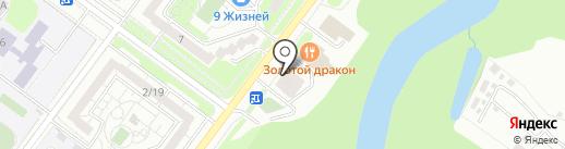 Улитка на карте Ульяновска