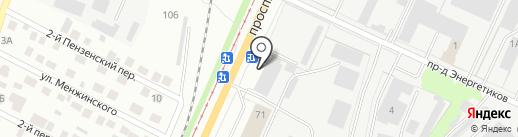 Микрос на карте Ульяновска