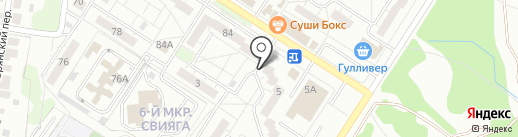 Импульс, ЖСК на карте Ульяновска