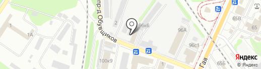 Движок на карте Ульяновска