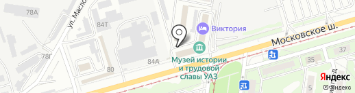 Анастасия Роуз на карте Ульяновска