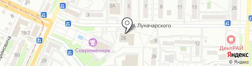 Ателье на Луначарского на карте Ульяновска