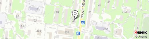 Натали на карте Ульяновска
