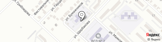 Детский сад №28, Хрусталик на карте Волжска