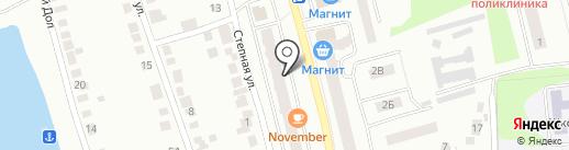 Магазин товаров для рыбалки на карте Волжска
