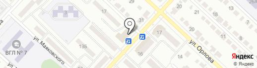 Магазин смешанных товаров на карте Волжска