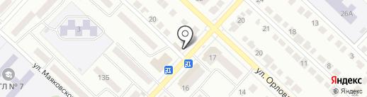 Супса на карте Волжска