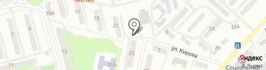 Продуктовый магазин на ул. Дружбы на карте Волжска