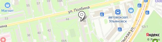 Красное & Белое на карте Ульяновска