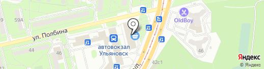 Старт на карте Ульяновска