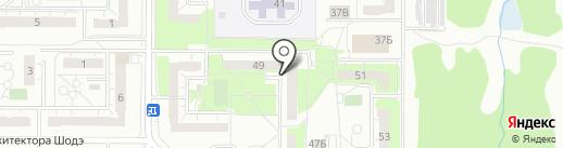 Павлин на карте Ульяновска