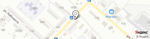 Магазин канцтоваров на карте Волжска