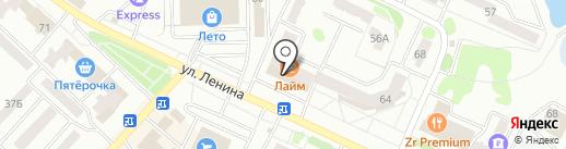 Лайм на карте Волжска