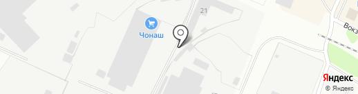 Чонаш на карте Волжска