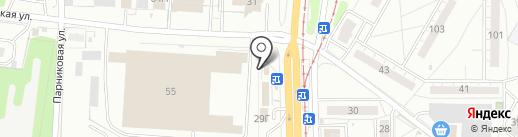 Авион-Аэро на карте Ульяновска