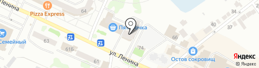 Преображение на карте Волжска