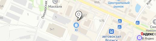 Диваны+ на карте Волжска