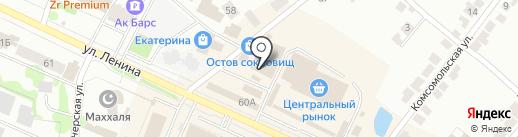 Магазин сантехники на карте Волжска