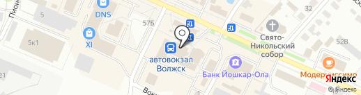 Зоомагазин на ул. Ленина на карте Волжска
