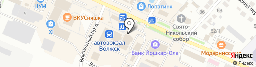 Юничел на карте Волжска