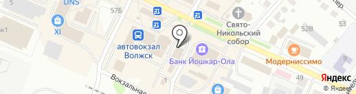 100 диванов на карте Волжска