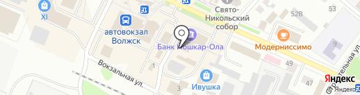 Фант-Окна на карте Волжска