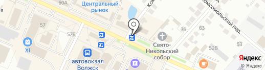 Мастерская по ремонту обуви на Комсомольской на карте Волжска